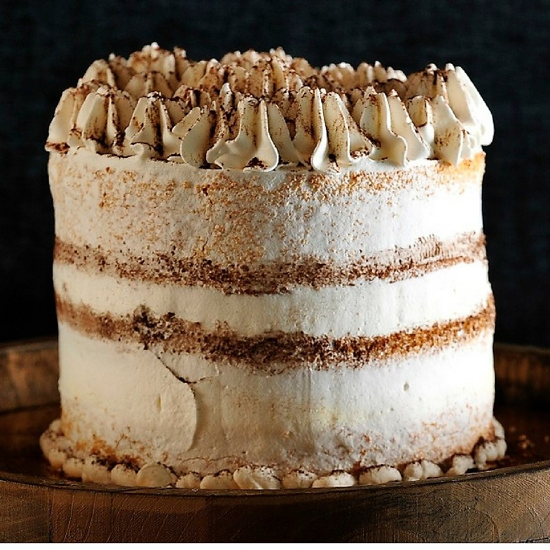 Bon COOK. Cinnamon Espresso Cake With Cinnamon Whipped Cream